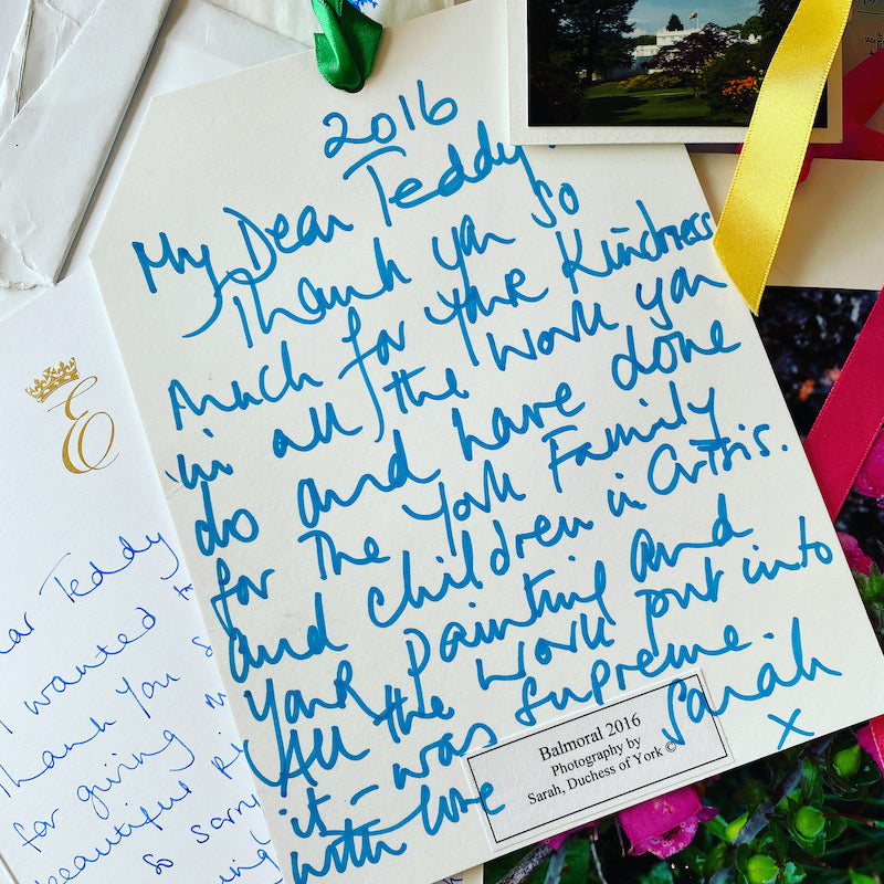 duchess of York letter to Teddy McDonald contemporary art artist 2016 royal lodge