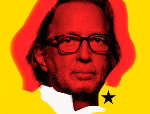 Eric Clapton portrait pop art contemporary art by teddy McDonald 2013