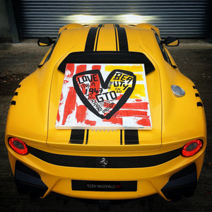 ferrari f12 tdf enzo ferrari Teddy McDonald contemporary art painting