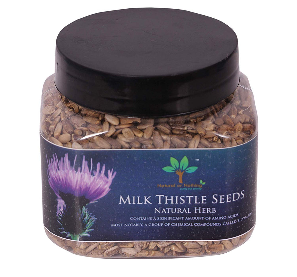 Milk Thistle Seeds for Boosting Immune System - 150 Grams (30 Servings) + 100 ML Bottle of Herbal Hand Sanitizer Free (Stay Safe)