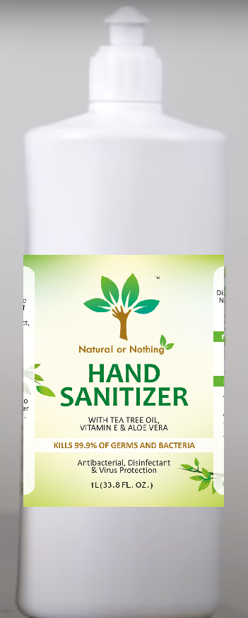 Herbal Hand Sanitizer with Neem, Tulsi, Aloe Vera, Vitamin E & Tea Tree Oil (70% Alcohol Content) 1000 ML including Packaging & Shipping of 120 Rs. (All India)