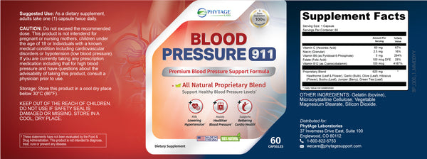 blood pressure 911 ingredients