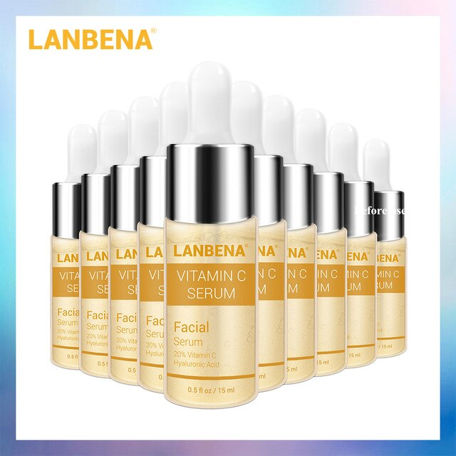 LANBENA 10PCS Vitamin C Whitening Serum