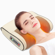 Load image into Gallery viewer, Infrared Heating Electric Massage Pillow Neck Shoulder