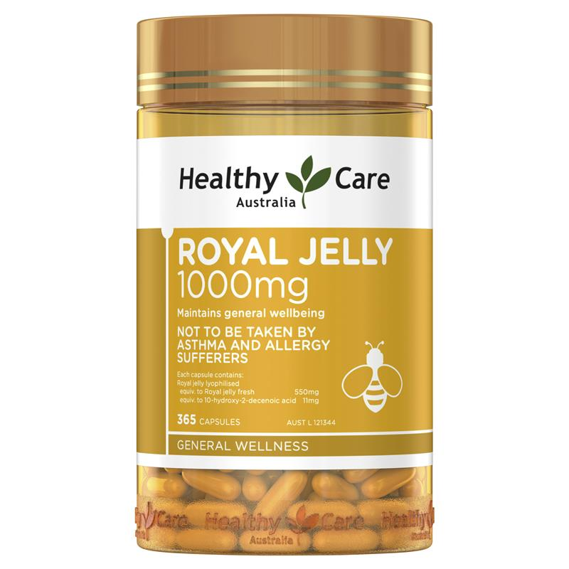 Healthy Care Royal Jelly Propolis Capsules Honey Bee Male Women