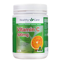 Load image into Gallery viewer, Healthy Care Vitamin C 500mg 500 Tablets Vitamins for Men Women
