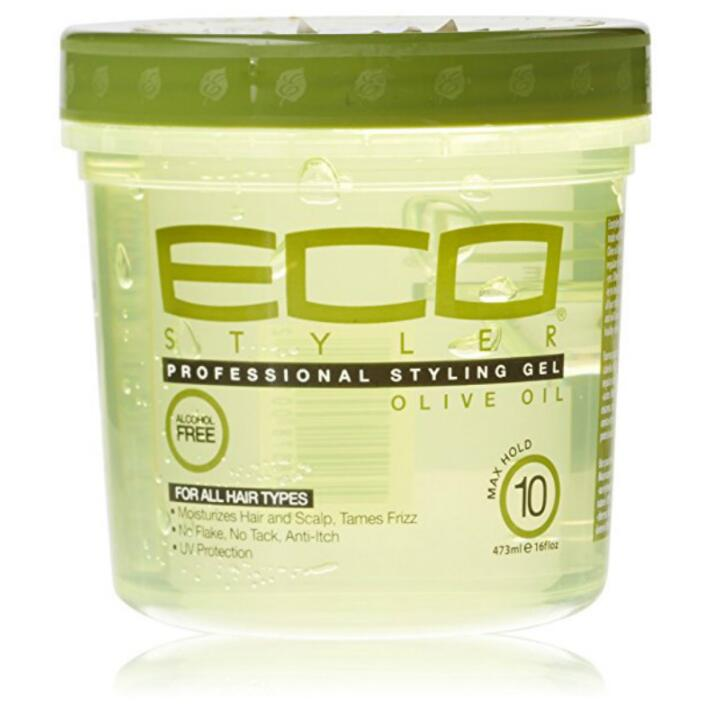 Eco Hair Style Gel Olive Oil 473ml Moisturizing Hair (16oz) free shipping