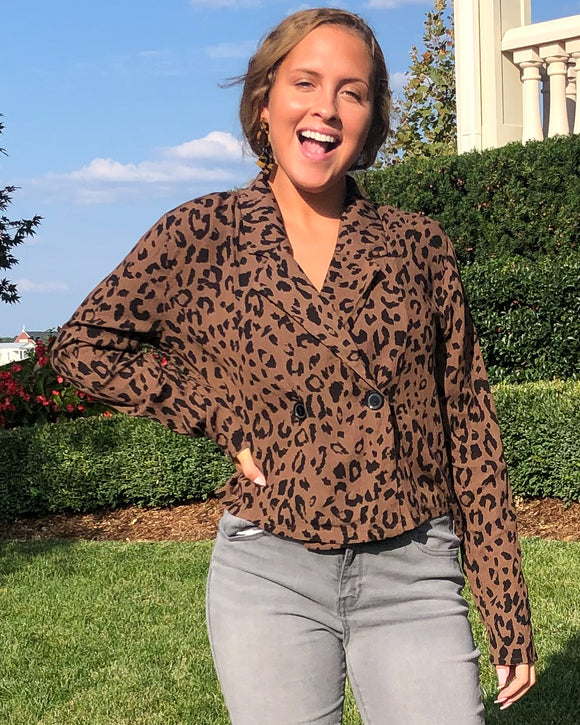 Hit The Ground Running Cheetah Blazer