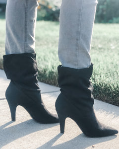 My Cup Of Tea Black Pull-On Boot
