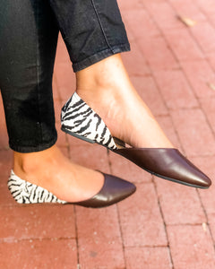 Astoria Animal Print Brown Flats