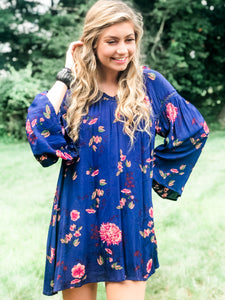 I Want Them All Navy Floral Dress