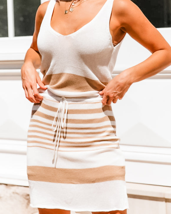 Savvy Sleeveless Drawstring Dress
