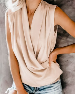Cream Enchanting Drape Top