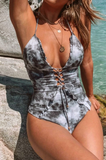 Salty Gray Tie Dye One Piece Swimsuit