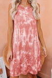 Kinley Pink Tie Dye Knit Tank Dress