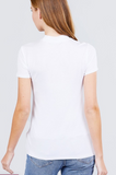 Angel Short Sleeve Mock Neck Top
