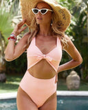 Quite The Catch Pink Cut out One-piece Swimsuit