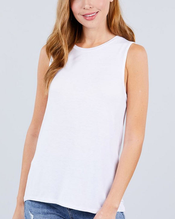 Lovie Sleeveless Round Neck Knit Top