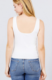 Unwind Sleeveless Lace Trim Pointelle Knit Top