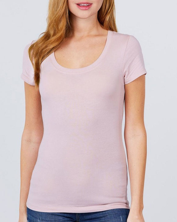 Layla Short Sleeve Scoop Neck Tee