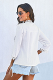 Fresh Start White Crochet Lace Top