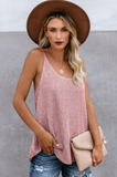 Silvana Pink Knitted Cami Tank Top