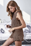 Cristin Leopard Swingy Tank and Ruffled Shorts Loungewear