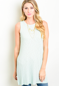 Feel The Love Mint Tank