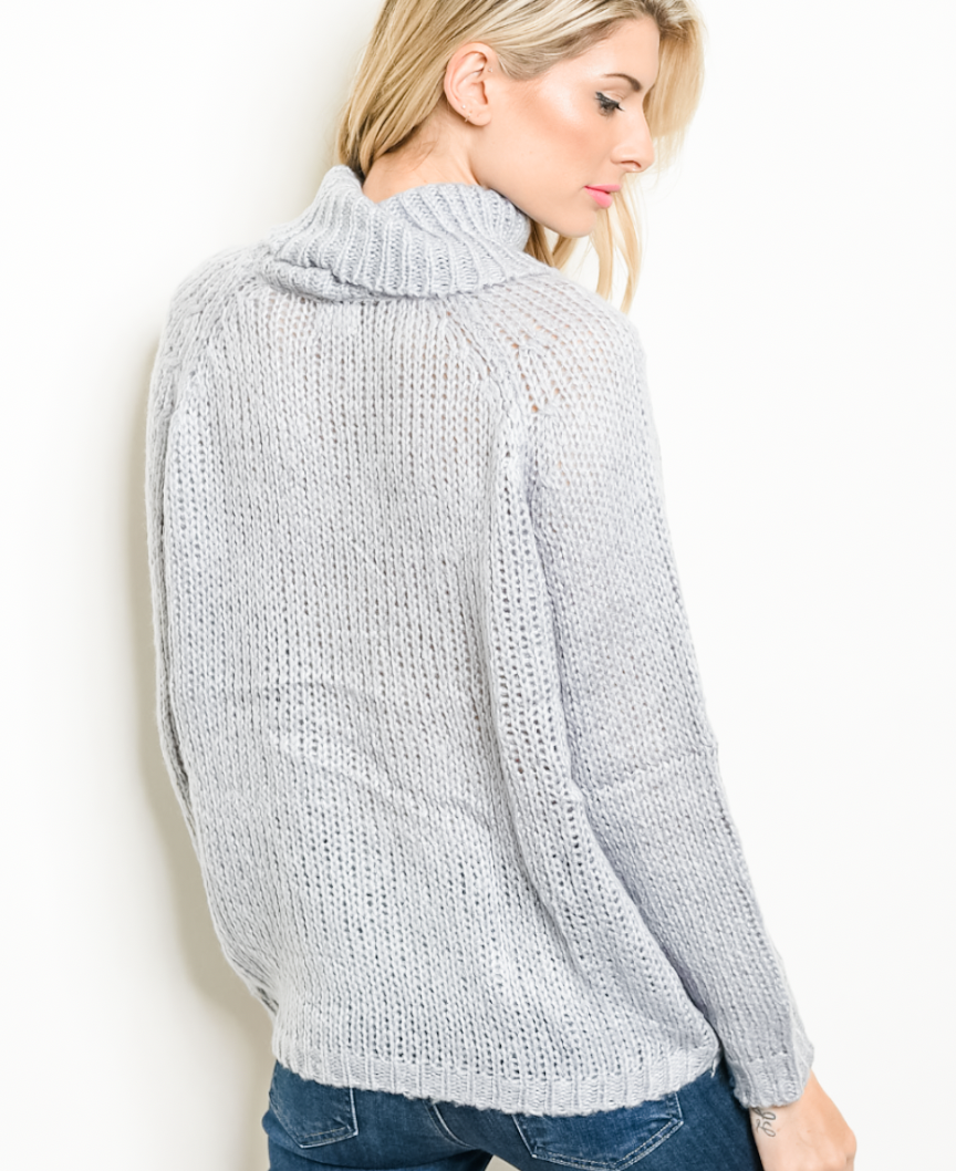 Drop In The Bucket Grey Sweater