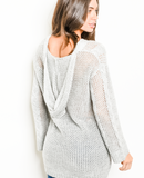 1 M/L LEFT! Birds Of A Feather Grey Sweater