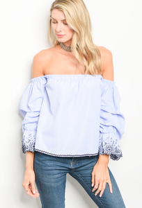 1 MEDIUM LEFT! Shake It Off The Shoulder Top