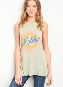 1 LARGE LEFT! Take Me To The Beach Tank