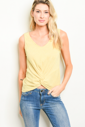 1 SMALL LEFT! Time To Relax Yellow Tank