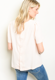1 SMALL LEFT! Blush Backside Button Down