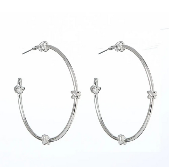 Silver Lucky Knot Earrings