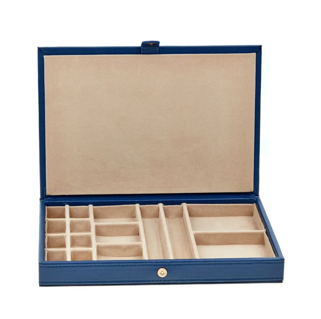 Navy Vienna Travel Jewelry Box