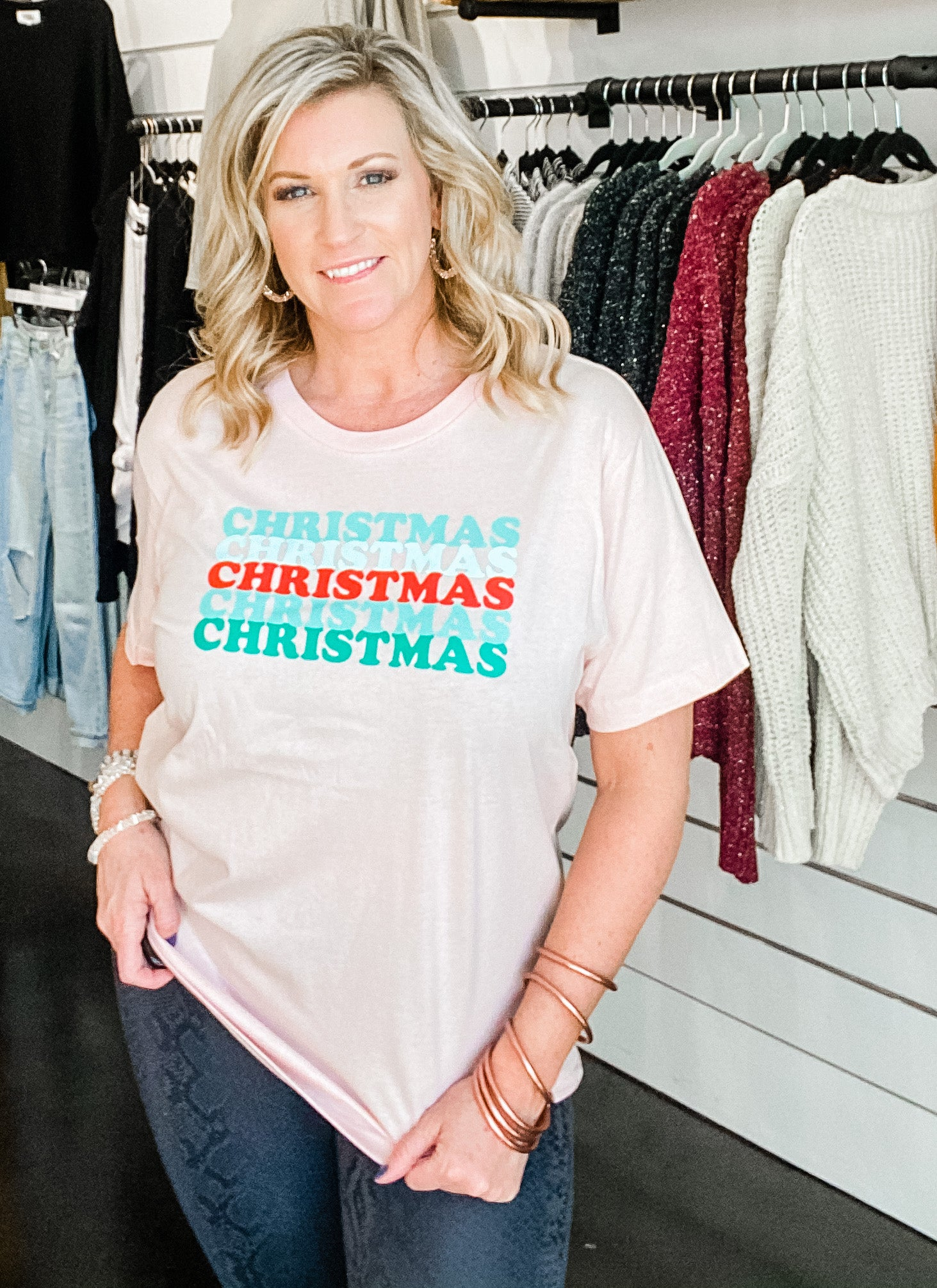 Christmas for You Tee | Light Pink