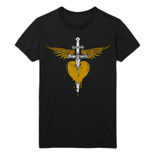 Load image into Gallery viewer, Bon Jovi Gold Heart & Dagger Tee + Digital Album