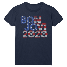 Load image into Gallery viewer, Bon Jovi 2020 Stars & Stripes Navy Tee + Album