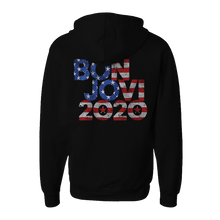 Load image into Gallery viewer, Bon Jovi 2020 Stars & Stripes Black Hoodie