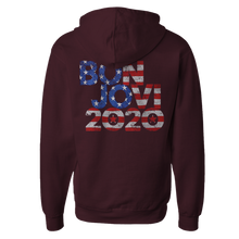 Load image into Gallery viewer, Bon Jovi 2020 Stars & Stripes Maroon Hoodie