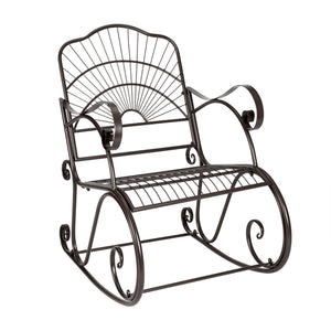 Rocking Chair Black Artisasset Paint Brush Gold - outdoor garden chair