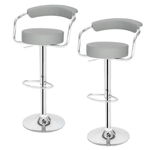 Two Piece Round Back Cushion Bar Stool - Home Happy Hour