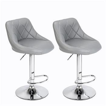 Two Adjustable Height Bar Stools
