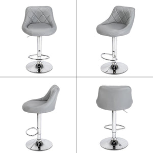 Two Adjustable Height Bar Stools - Home Happy Hour