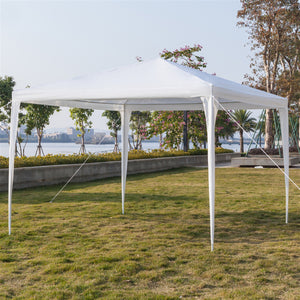 Portable Home Use Waterproof Tent with Spiral Tubes White - 3 x 3m Four Sides