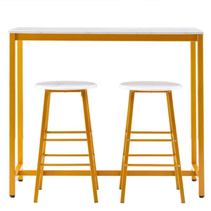 Bar Set Marble & Golden - Home Happy Hour
