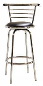Two Piece Chrome Wide Back Bar Stool - Home Happy Hour