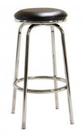 Two Piece Chrome Swivel Bar Stool