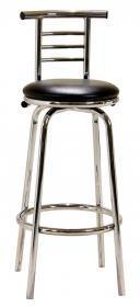 Two Piece Chrome Narrow Back Bar Stool - Home Happy Hour